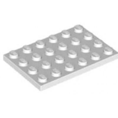 LEGO 4 x 6 Plate White