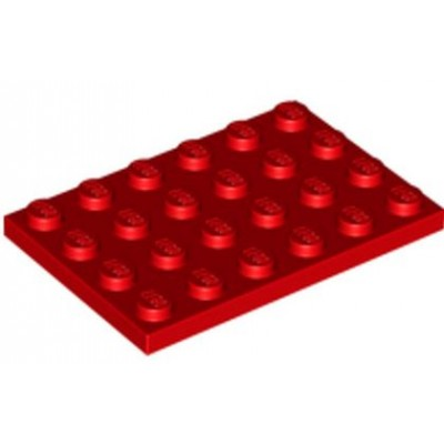 LEGO 4 x 6 Plate Red