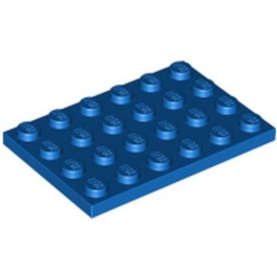 LEGO 4 x 6 Plate Blue
