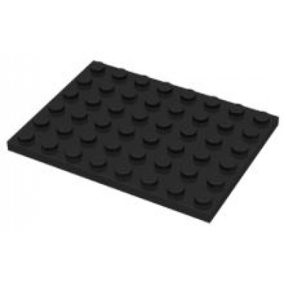 LEGO 6 x 8 Plate Black