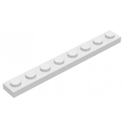 LEGO 1 x 8 Plate White