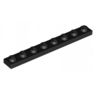 LEGO 1 x 8 Plate Black