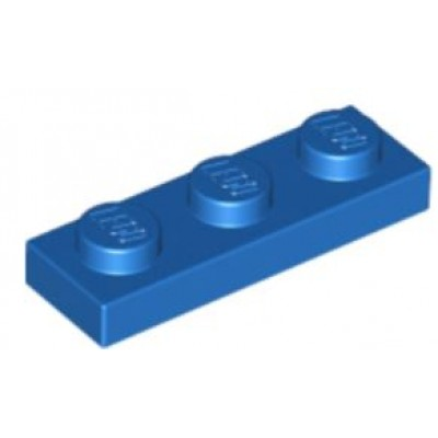 LEGO 1 x 3 Plate Blue