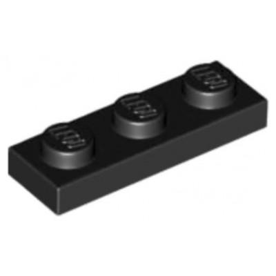 LEGO 1 x 3 Plate Black