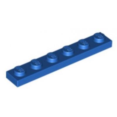 LEGO 1 x 6 Plate Blue