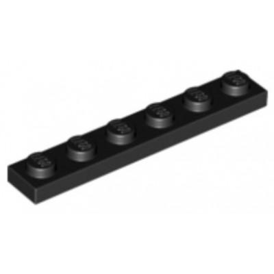LEGO 1 x 6 Plate Black