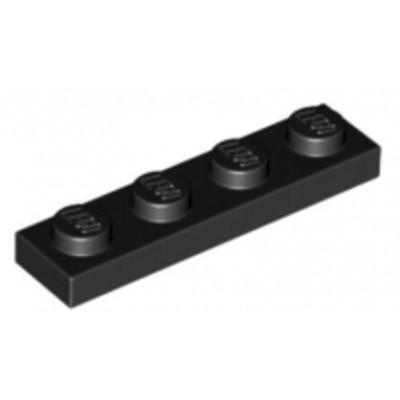 LEGO 1 x 4 Plate Black