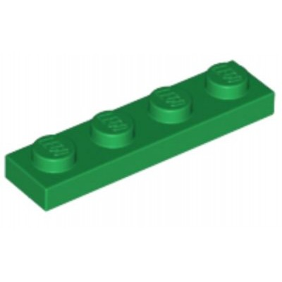 LEGO 1 x 4 Plate Green