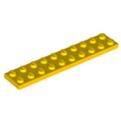 LEGO 2 x 10 Plate Yellow