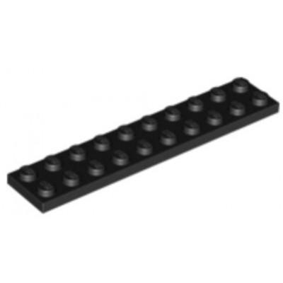 LEGO 2 x 10 Plate Black