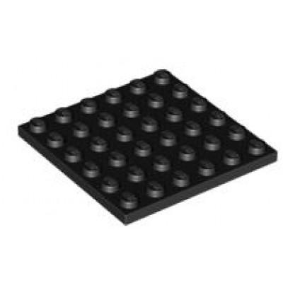 LEGO 6 x 6 Plate Black