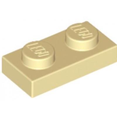 LEGO 1 x 2 Plate Tan
