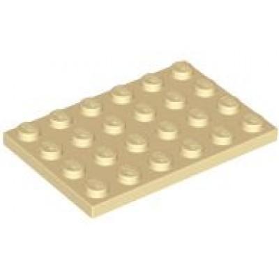 LEGO 4 x 6 Plate Tan