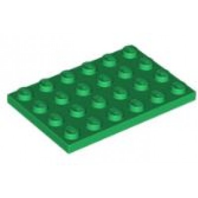 LEGO 4 x 6 Plate Green