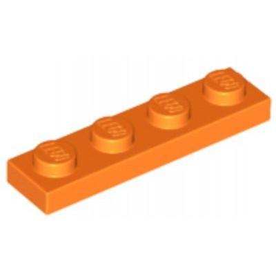 LEGO 1 x 4 Plate Orange