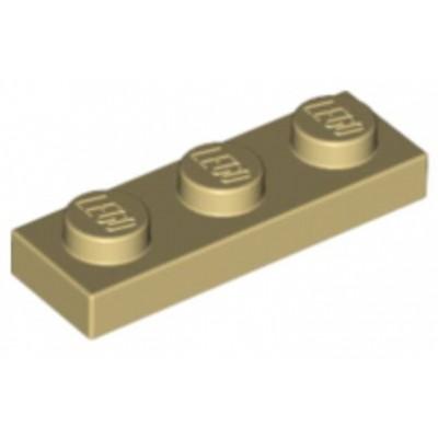LEGO 1 x 3 Plate Tan