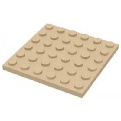 LEGO 6 x 6 Plate Tan
