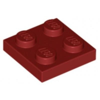 LEGO 2 x 2 Plate Dark Red