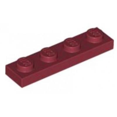 LEGO 1 x 4 Plate Dark Red