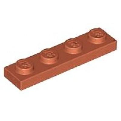 LEGO 1 X 4 Plate Dark Orange