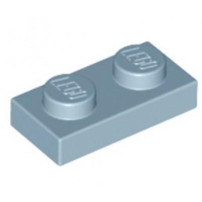 LEGO 1 x 2 Plate Sand Blue