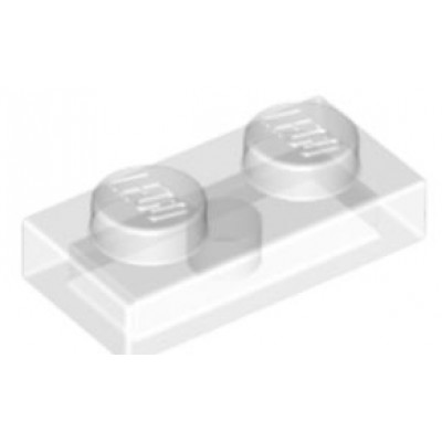 LEGO 1 x 2 Plate Transparent Clear
