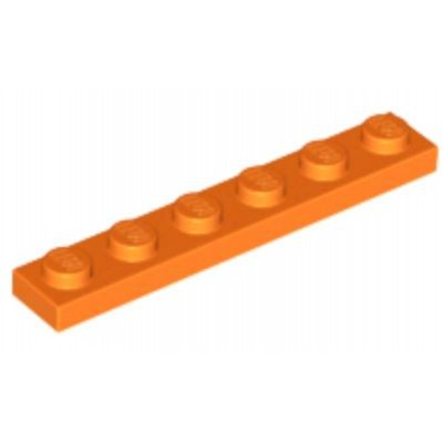 LEGO 1 x 6 Plate Orange