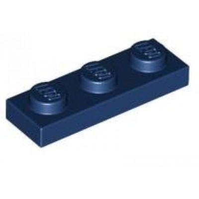 LEGO 1 x 3 Plate Dark Blue
