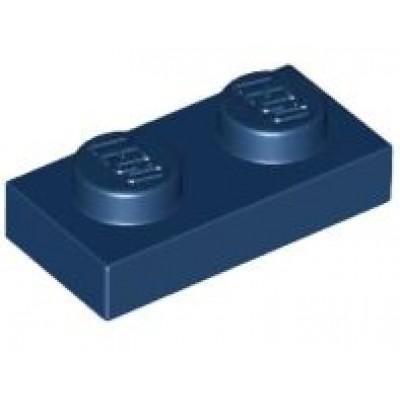 LEGO 1 x 2 Plate Dark Blue