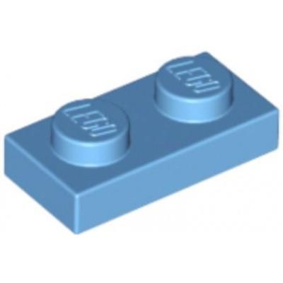 LEGO 1 x 2 Plate Medium Blue