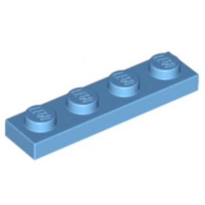 LEGO 1 x 4 Plate Medium Blue