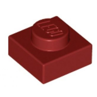LEGO 1 x 1 Plate Dark Red