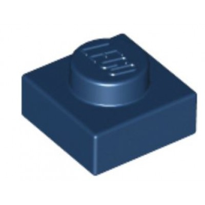 LEGO 1 x 1 Plate Dark Blue
