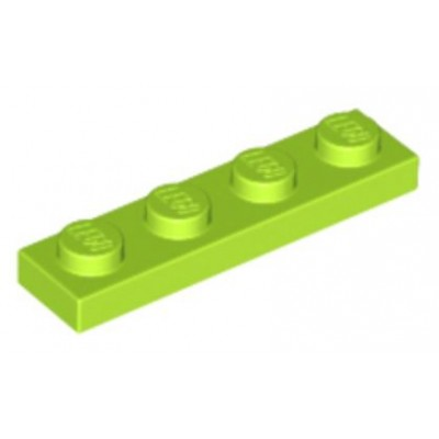 LEGO 1 x 4 Plate Lime