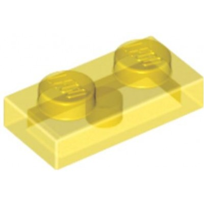 LEGO 1 x 2 Plate Transparent Yellow