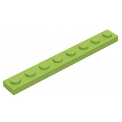 LEGO 1 x 8 Plate Lime