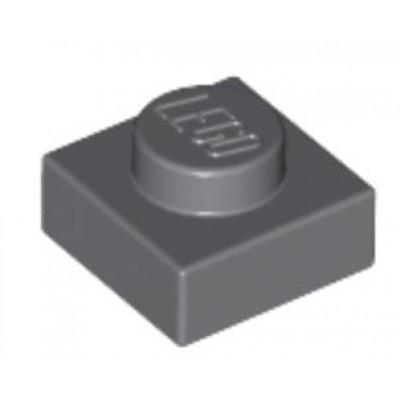 LEGO 1 x 1 Plate Dark Bluish Grey