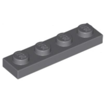 LEGO 1 x 4 Plate Dark Bluish Grey