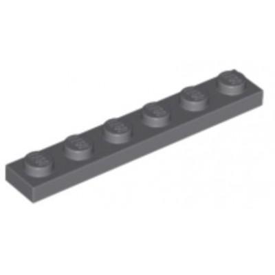 LEGO 1 x 6 Plate Dark Bluish Grey