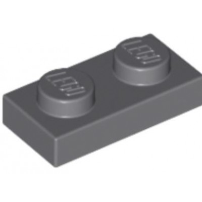 LEGO 1 x 2 Plate Dark Bluish Grey