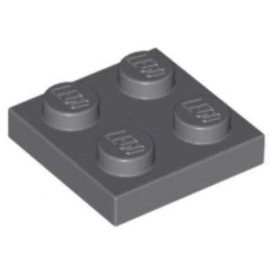 LEGO 2 x 2 Plate Dark Bluish Grey