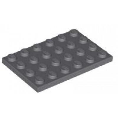 LEGO 4 x 6 Plate Dark Bluish Grey