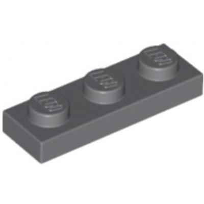 LEGO 1 x 3 Plate Dark Bluish Grey