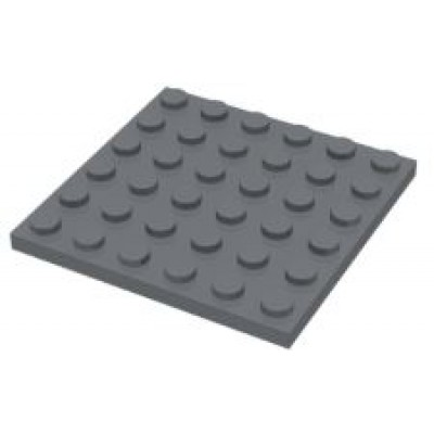 LEGO 6 x 6 Plate Dark Bluish Grey