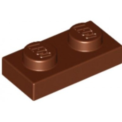 LEGO 1 x 2 Plate Reddish Brown