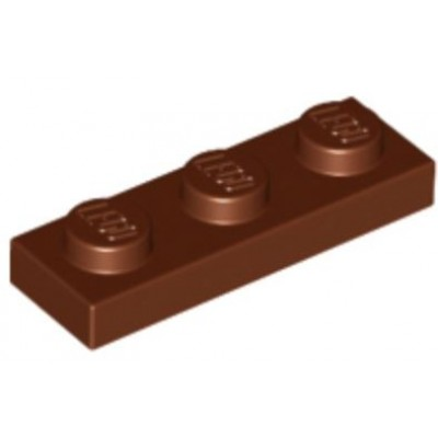 LEGO 1 x 3 Plate Reddish Brown