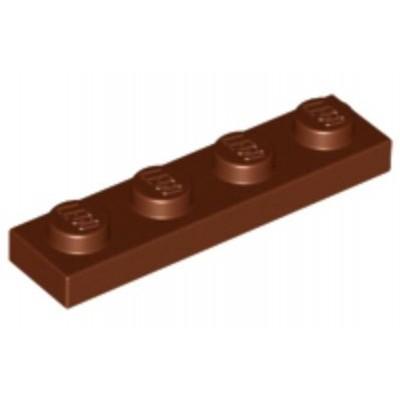 LEGO 1 x 4 Plate Reddish Brown