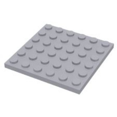 LEGO 6 x 6 Plate Light Bluish Grey