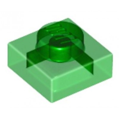 LEGO 1 x 1 Plate Transparent Green