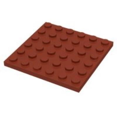 LEGO 6 x 6 Plate Reddish Brown